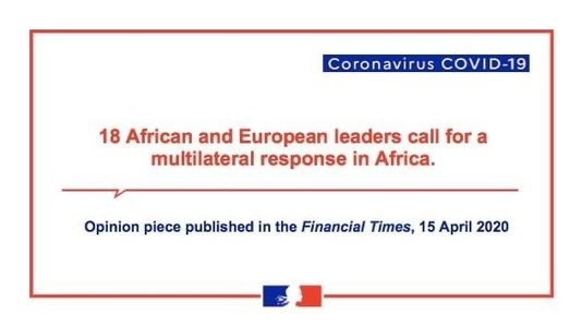 COVID-19: Call by African and European leaders for a multilateral response (...)